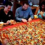 اكبر بيتزا بالعالم , صور اكبر بيتزا