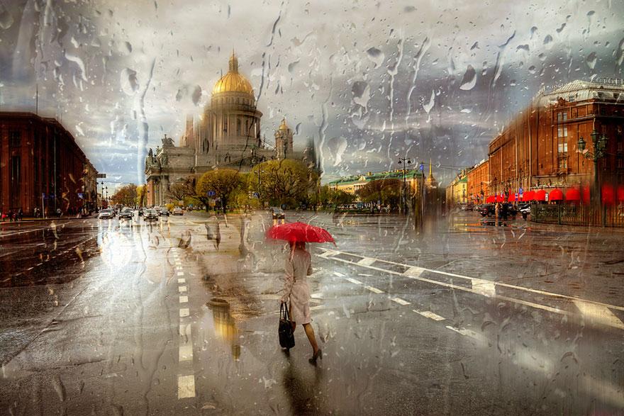 بالصور لوحات فنية رسمها المطر     ,   اجمل الصور لرسمات المطر بقطراته 1527 9