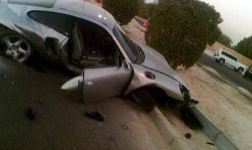 بالصور صور حادث بورش ,حادث مؤسف بسياره بورش 1580 7