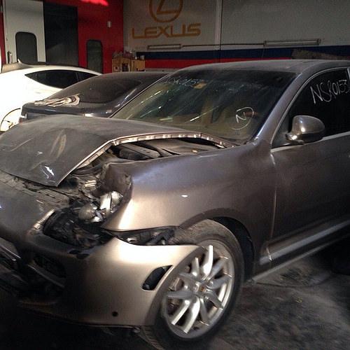 بالصور صور حادث بورش ,حادث مؤسف بسياره بورش 1580 9