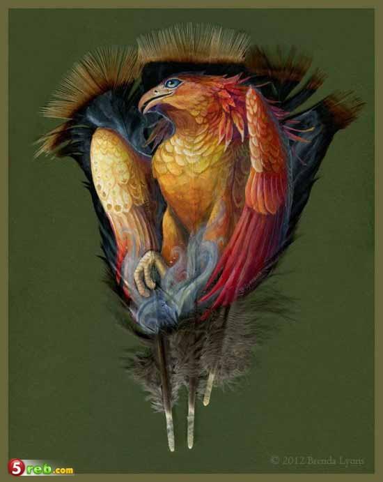 صوره الرسم على الريش , ابداع فني متميز