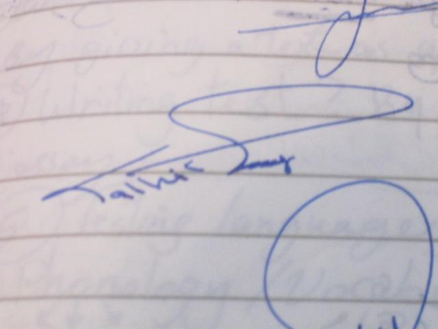 مسابقة اجمل توقيع بخط اليد صوري