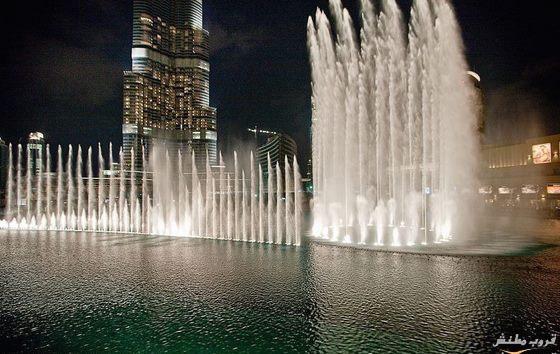 صوره اكبر نافورة راقصة في العالم في دبي