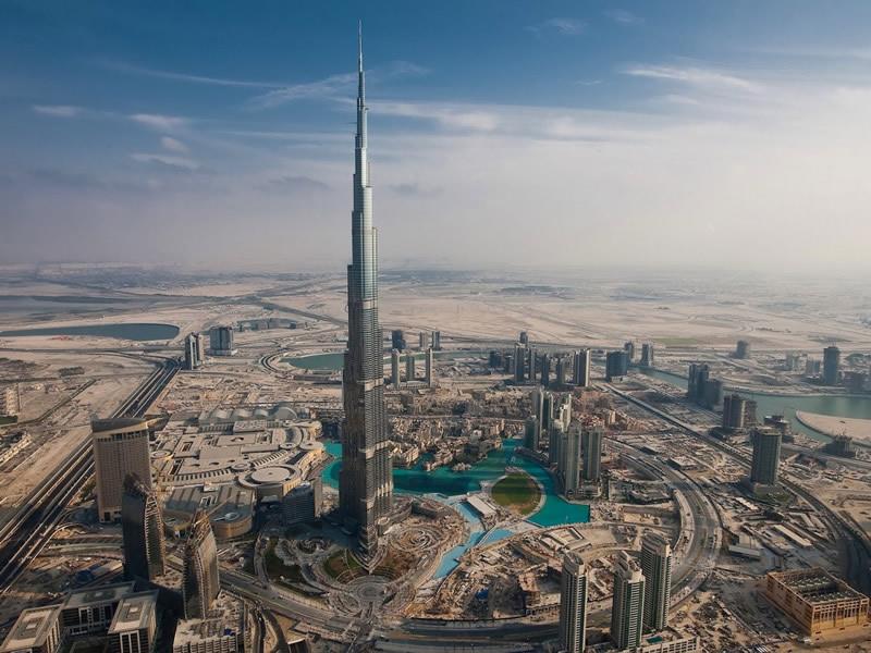 بالصور من اعلى برج دبي يظهر انحناء الكرة الارضية 435 2