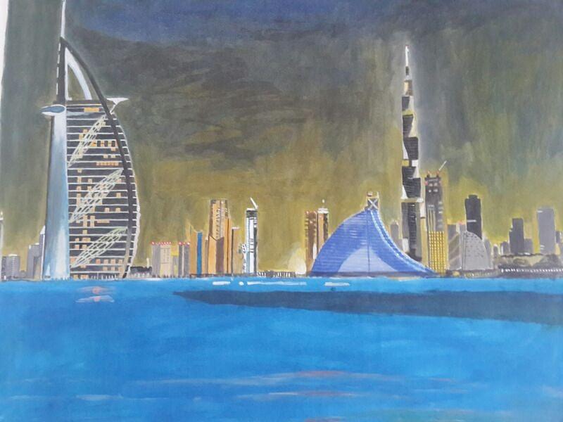 بالصور من اعلى برج دبي يظهر انحناء الكرة الارضية 435 3