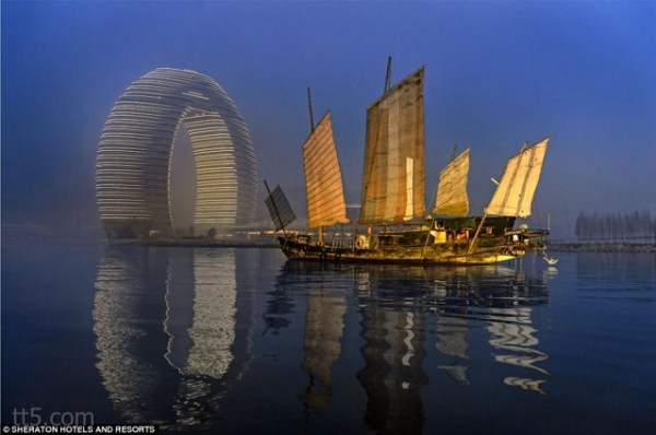 بالصور فندق على شكل شلال في الصين 466 1