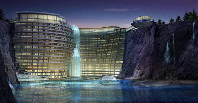 بالصور فندق على شكل شلال في الصين 466 4