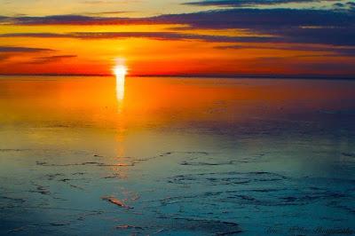صوره غروب الشمس في القطب الشمالي