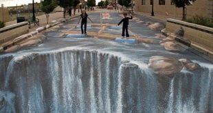 فن الرسم في الشوارع , من عجائب الصور ثلاثية الابعاد