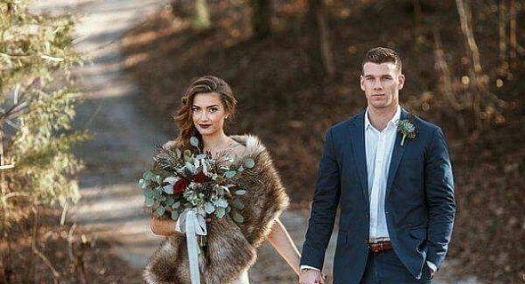 صورة فساتين زفاف للشتاء , موضه