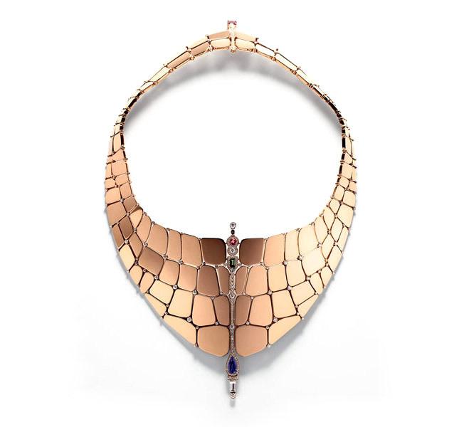 صوره الذهب الوردي الرائع , اجمل تصاميم الذهب لوردي