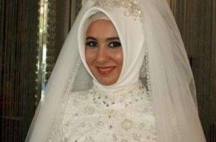 صوره احدث حجاب للعرايس انيقة , اروع حجابات للعروسة