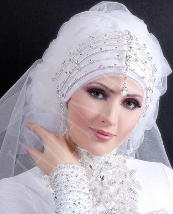 صورة لفات طرح للعرايس المحجبات راقية , هذا ماتبحث عنه كل عروس
