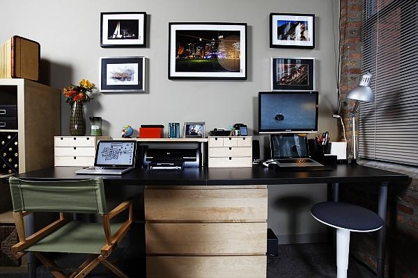 صوره مكاتب للمنزل عالمية , ديكورات مكاتب روعه