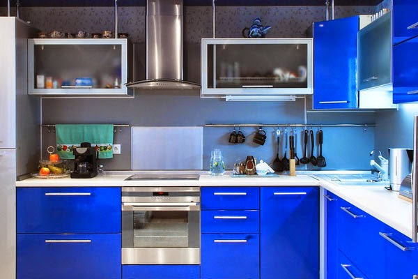 صوره الوان مطابخ فخمة , اسرار تجعل المطبخ رائع عند تغيير لونه الباهت