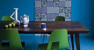 اضافة لون لغرفة السفرة , اضافات بالوان مشرقة وجذابة لغرف الطعام