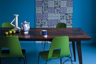 صوره اضافة لون لغرفة السفرة , اضافات بالوان مشرقة وجذابة لغرف الطعام