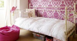 غرف نوم بنات الوان غامقة و فاتحة , غرف نوم فتيات بسيطة