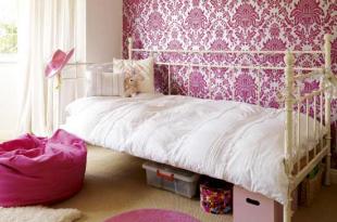 صورة غرف نوم بنات الوان غامقة و فاتحة , غرف نوم فتيات بسيطة