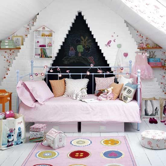 صوره غرف نوم بنات الوان غامقة و فاتحة , غرف نوم فتيات بسيطة