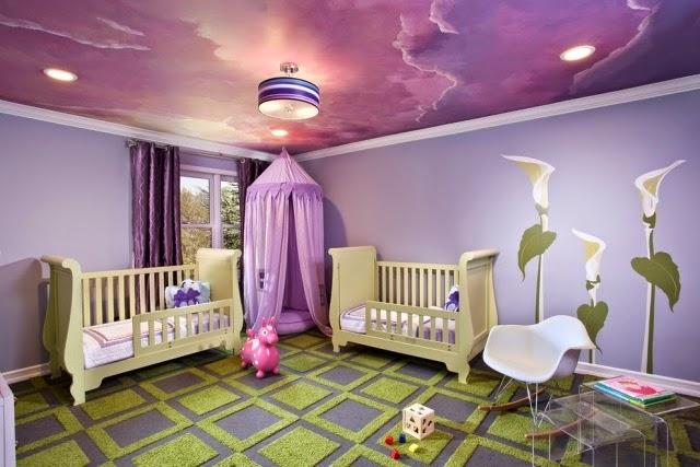 صورة اسقف غرف نوم الاطفال , غرف نوم الاطفال