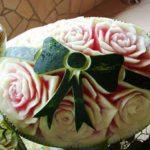 فن النحت على البطيخ , اجمل صور لفن النحت