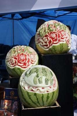 بالصور فن النحت على البطيخ , اجمل صور لفن النحت 989 6