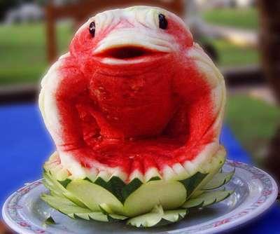 بالصور فن النحت على البطيخ , اجمل صور لفن النحت 989 9