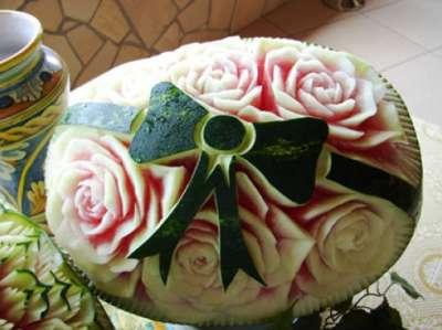 صوره فن النحت على البطيخ , اجمل صور لفن النحت