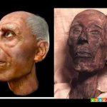 صورة فرعون بعد الترميم , شكل فرعون بعد الترميم