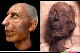 صوره صورة فرعون بعد الترميم    ,   شكل فرعون بعد الترميم