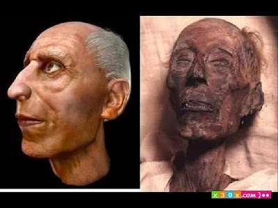 صور صورة فرعون بعد الترميم    ,   شكل فرعون بعد الترميم