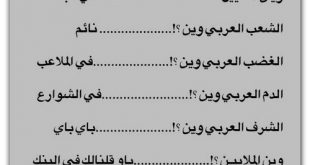 بالصور العرب الى اين          ,   اين يذهب الوطن العربى 1557 8 310x165