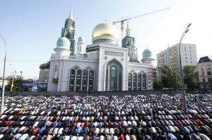 صورة صلاة العيد في موسكو , مسلمو روسيا وصلاة العيد فى المسجد الجامع فى موسكو