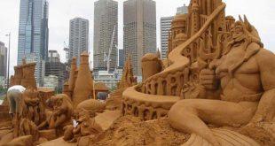 فن النحت على الرمال , صور جملة رائعة اقرب للحقيقة