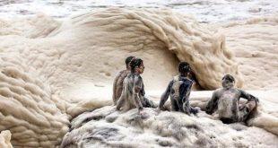 صور شاطئ الكابتشينو , من غرائب وعجايب الطبيعة
