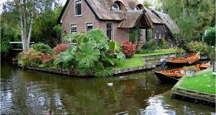 صوره قرية بدون شوارع في هولندا , تبعث الرضا والطمانينة