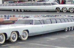 صورة صور اطول سيارة , مزودة بمهبط للطائرات