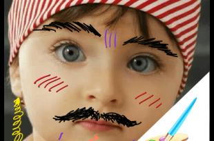 صوره الرسم على الصور , رسام الاطفال للجوال