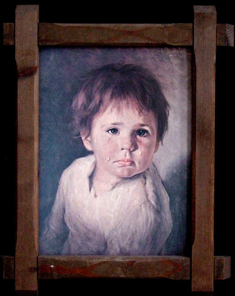 بالصور لوحة الطفل الباكي , من اكثر  انتشارا نظرا للبراءة الكامنة 3633 1