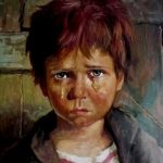 لوحة الطفل الباكي , من اكثر انتشارا نظرا للبراءة الكامنة