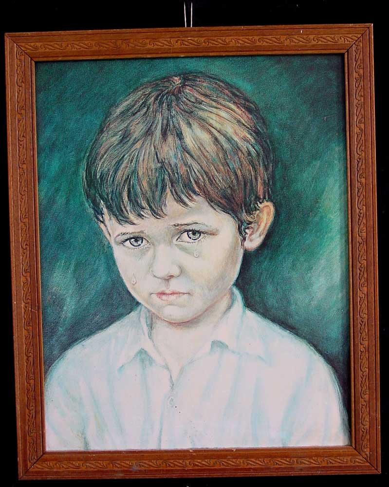 بالصور لوحة الطفل الباكي , من اكثر  انتشارا نظرا للبراءة الكامنة 3633 2