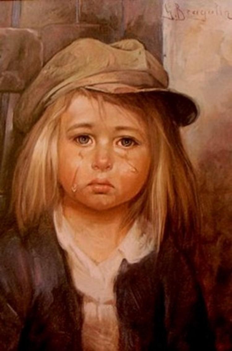 بالصور لوحة الطفل الباكي , من اكثر  انتشارا نظرا للبراءة الكامنة 3633 3
