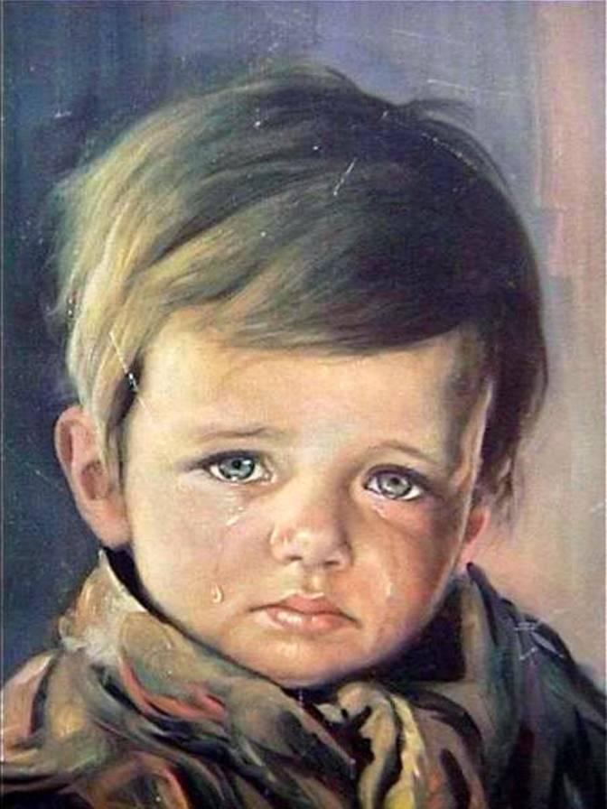 بالصور لوحة الطفل الباكي , من اكثر  انتشارا نظرا للبراءة الكامنة 3633 5