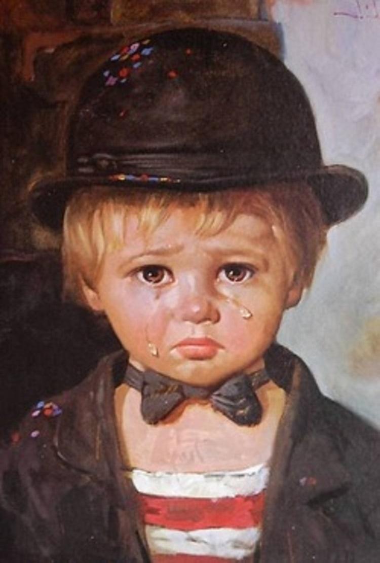 بالصور لوحة الطفل الباكي , من اكثر  انتشارا نظرا للبراءة الكامنة 3633 6