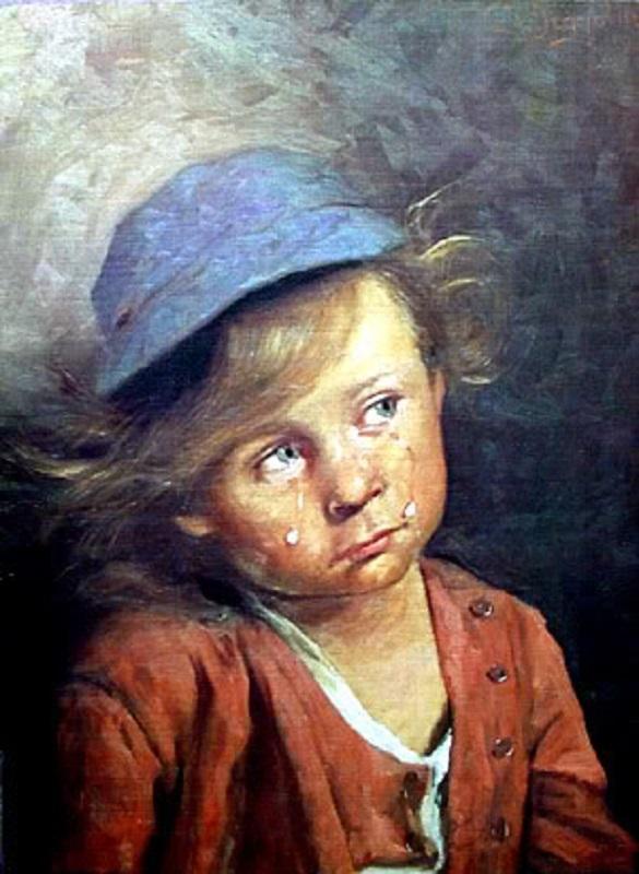 بالصور لوحة الطفل الباكي , من اكثر  انتشارا نظرا للبراءة الكامنة 3633 7