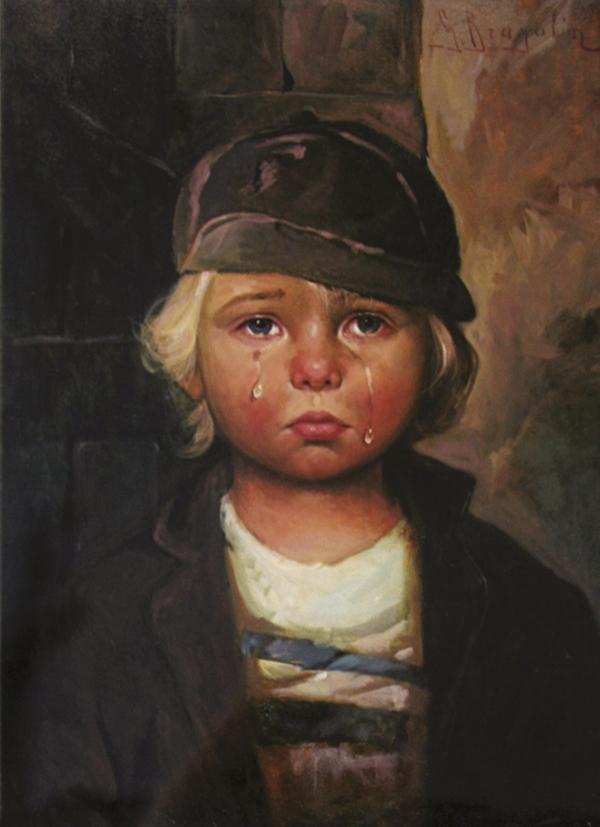 بالصور لوحة الطفل الباكي , من اكثر  انتشارا نظرا للبراءة الكامنة 3633 9