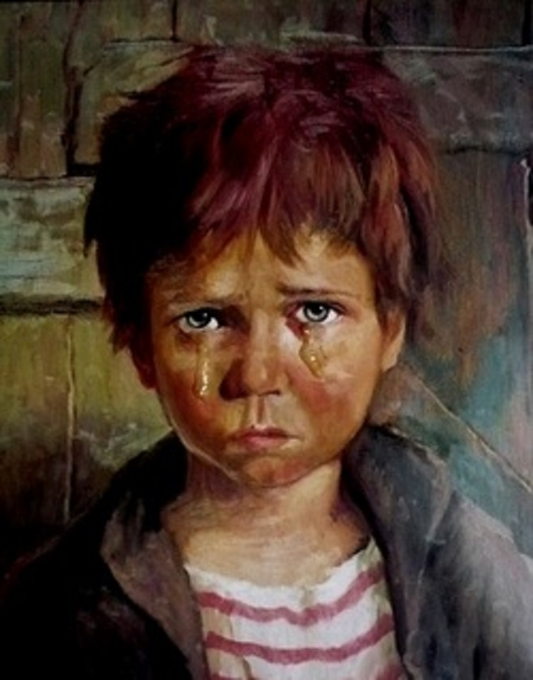 أشهر لوحات الاطفال الباكيه الطفل