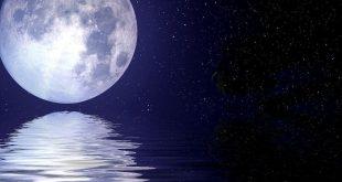 صور روعه للقمر , ما اروع وقت انعكاس ضوء القمر