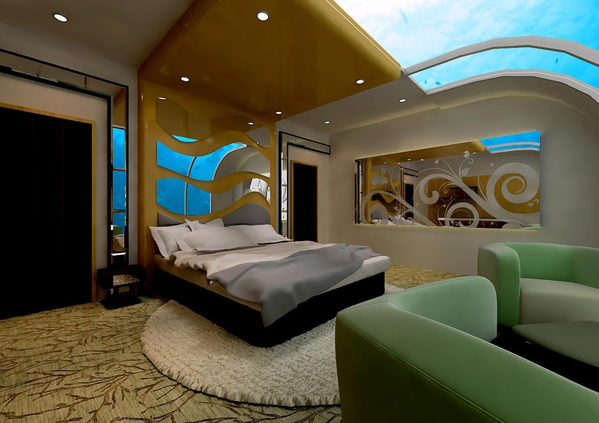 صورة غرف نوم تحت الماء , احدث تصاميم راوعه وخيال